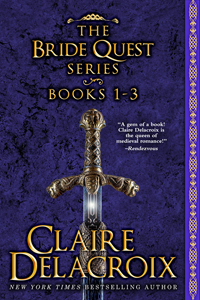 the Bride Quest I Boxed set, a digital bundle including the first three medieval romances in the Bride Quest series by Claire Delacroix