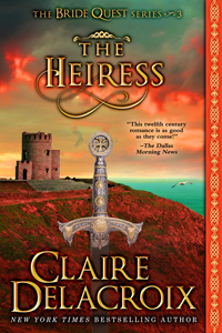 The Heiress, #3 of the Bride Quest series of medieval romances by Claire Delacroix