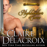 The Highlander's Curse, #2 of the True Love Brides series of medieval Scottish romances by Claire Delacroix is also available in audio