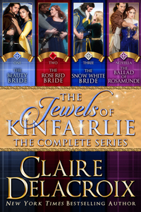 The Jewels of Kinfairlie Boxed Set, a digital bundle including all four medieval Scottish romances in the Jewels of Kinfairlie series by Claire Delacroix