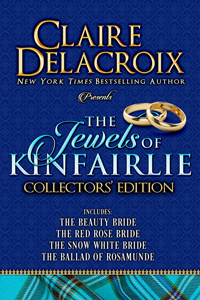 The Jewels of Kinfairlie hard cover collector's edition, including all four medieval Scottish romances in the Jewels of Kinfairlie series by Claire Delacroix