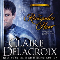 The Renegade's Heart, #1 of the True Love Brides series of medieval Scottish romances by Claire Delacroix is also available in audio