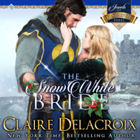 The Snow White Bride, #3 of the Jewels of Kinfairlie series of medieval Scottish romances by Claire Delacroix is also available in audio