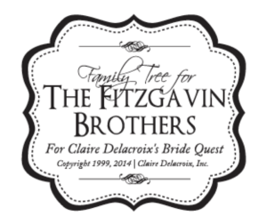 Fitzgavin Brothers Family Tree logo for Claire Delacroix's Bride Quest series of medieval romances