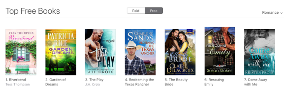 The Beauty Bride by Claire Delacroix at #5 in romance and #8 overall free in the iBookstore on May 15