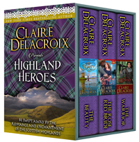 Highland Heroes, a boxed set of medieval Scottish romances by Claire Delacroix