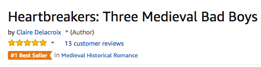 Heartbreakers, a digital boxed set of medieval romances by Claire Delacroix at #1 in Medieval romance at Amazon