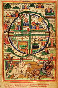 The Crusader's Map of Jerusalem 13th c