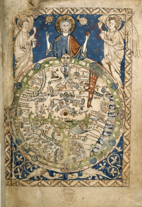 Psalter mappa mundi from 1265, now in the British Library