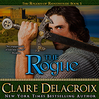The Rogue, book one of the Rogues of Ravensmuir series of medieval romances by Claire Delacroix, in audio, narrated by Ashley Klanac
