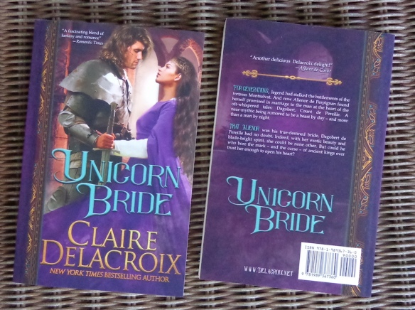 Unicorn Bride, a medieval romance by Claire Delacroix, in its 2019 trade paperback edition