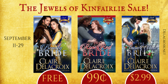 Sale on the Jewels of Kinfairlie series of medieval Scottish romances by Claire Delacroix