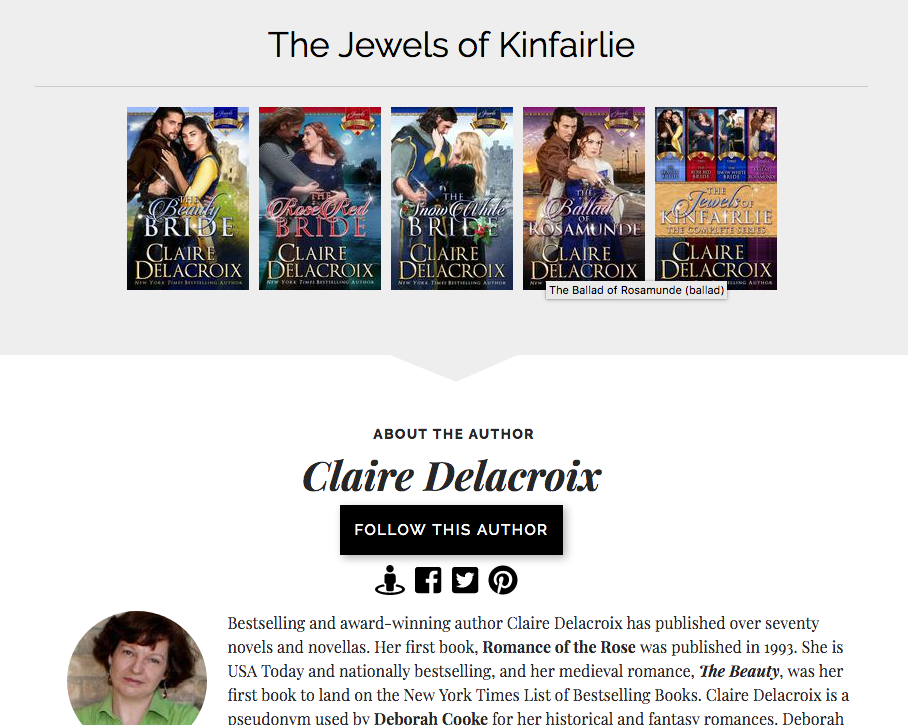 More detail on the Books2Read page for The Beauty Bride, book one in the Jewels of Kinfairlie series of medieval Scottish romances by Claire Delacroix