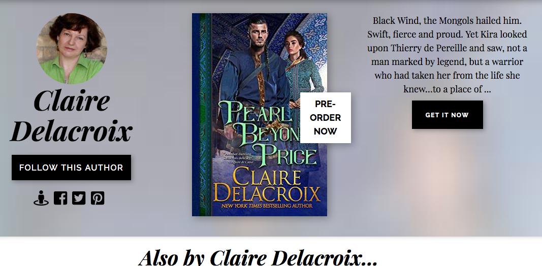 Books2Read page for Claire Delacroix, author of medieval romances and fantasy romances