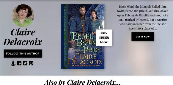 Books2Read page for Claire Delacroix, author of medieval romances and fantasy romances