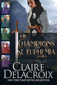 The Champions of St. Euphemia Boxed Set including all five medieval romances in the series by Claire Delacroix