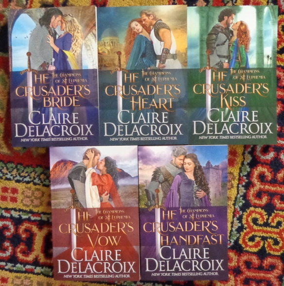 The Champions of St. Euphemia series of medieval romances by Claire Delacroix in trade paperback