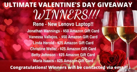 Ultimate Valentine's Day Giveaway Winners