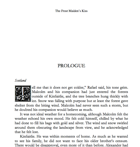 The Frost Maiden's Kiss, a medieval Scottish romance by Claire Delacroix, in its print edition