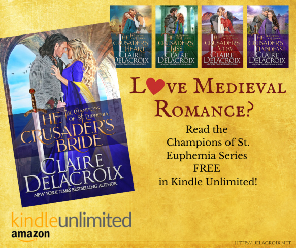 The Champions of St. Euphemia series of medieval romances by Claire Delacroix