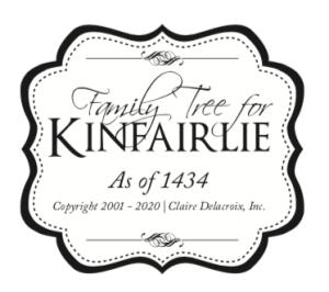 Family Tree for Claire Delacroix's Kinfairlie Medieval Romances