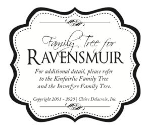 Family Tree for Claire Delacroix's Ravensmuir Medieval Romances