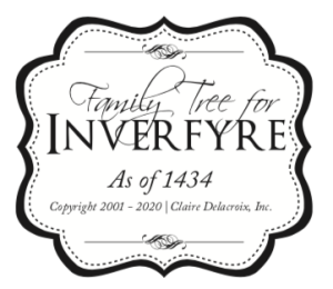 Family Tree for Inverfyre, part of Claire Delacroix's fictional medieval Scottish realm of Ravensmuir
