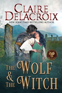 The Wolf & the Witch, book one of the Blood Brothers series of medieval Scottish romances by Claire Delacroix
