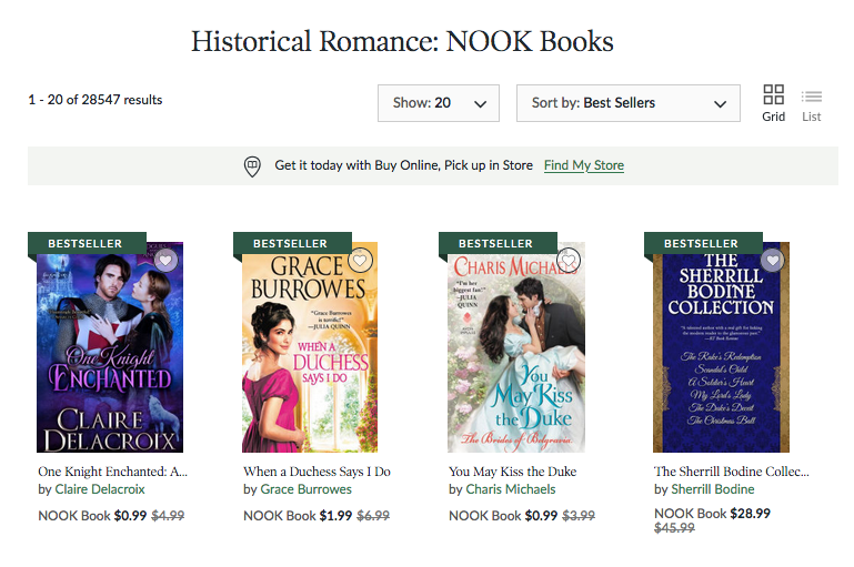 One Knight Enchanted at #1 in historical romance in the Nook store on September 13, 2020
