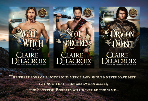 The Blood Brothers trilogy of medieval Scottish romances by Claire Delacroi