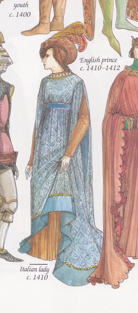 Illustration from The Chronicle of Western Fashion by John Peacock