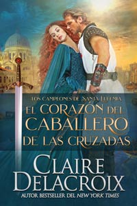 The Crusader's Heart, book two of the Champions of St. Euphemia series of medieval romances by Claire Delacroix, in its Spanish edition