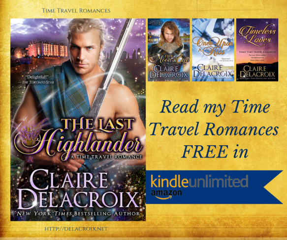 Read Claire Delacroix's time travel romances in Kindle Unlimited