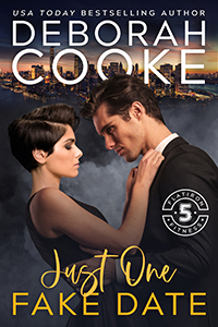 Just One Fake Date, book one of the Flatiron Five Fitness series of contemporary romancees by Deborah Cooke