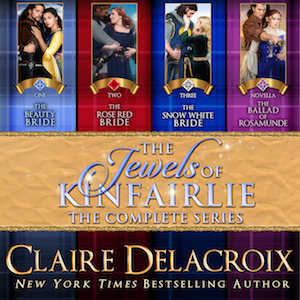 The Jewels of Kinfairlie boxed set of medieval Scottish romances by Claire Delacroix, audio edition narrated by Saskia Maarleveld