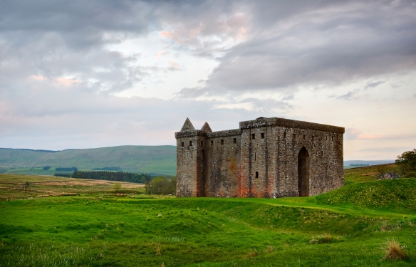 The ruins of Hermitage Castle on the Scottish Borders