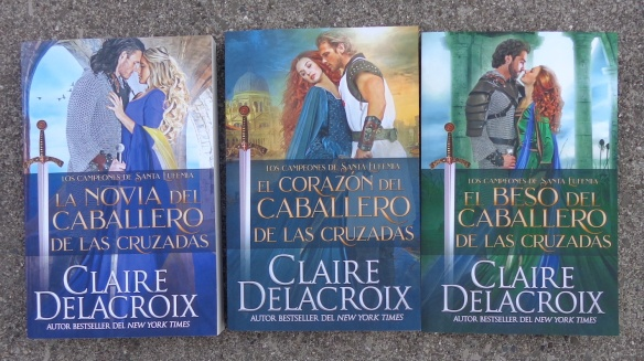 The Champions of St. Euphemia series of medieval romances by Claire Delacroix, Spanish trade paperback editions