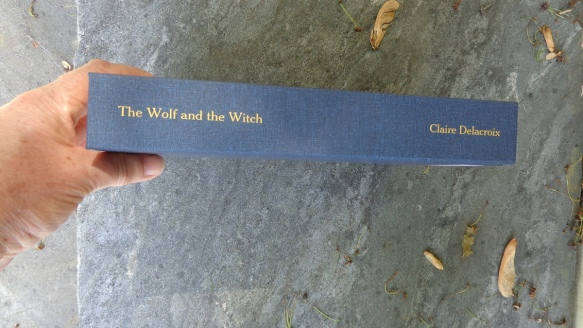 The Wolf and the Witch medieval romance by Claire Delacroix hardcover large print edition