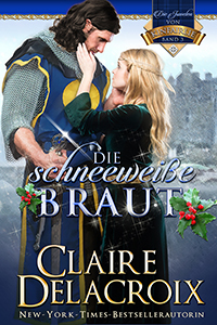 The Snow White Bride, book three of the Jewels of Kinfairlie sereis of medieval romances by Claire Delacroix, German edition